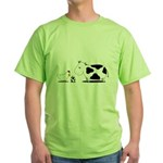 Chicken and cow egg Green T-Shirt