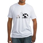 Chicken and cow egg Fitted T-Shirt