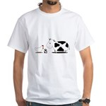 Chicken and cow egg White T-Shirt