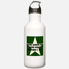 Pearl harbor day: Never forge Water Bottle