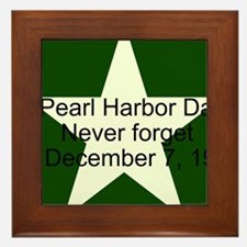 Pearl harbor day: Never forge Framed Tile