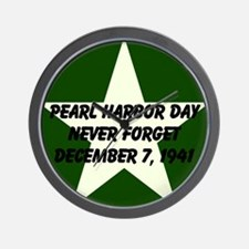Pearl harbor day: Never forge Wall Clock