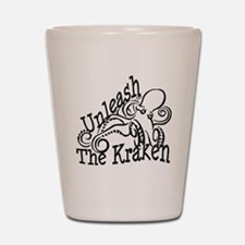 Unleash the Kraken Shot Glass