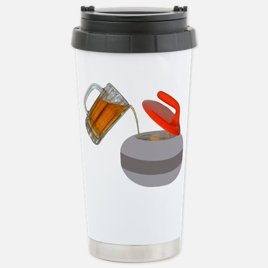 Fueled By Beer Stainless Steel Travel Mug