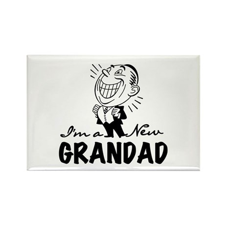 Smiling New Grandad Rectangle Magnet
