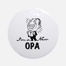 Smiling New Opa Ornament (Round)