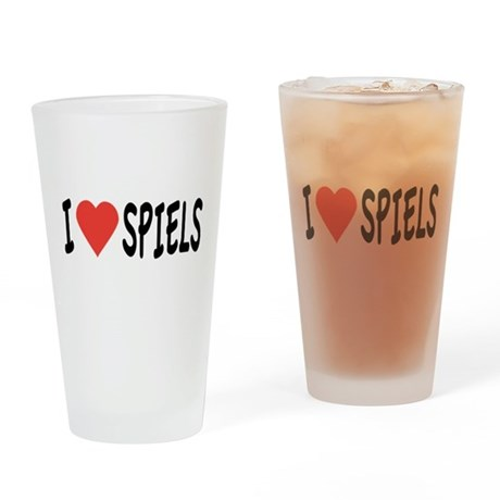 I Heart Spiels Drinking Glass