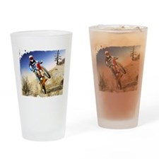 Cute Dirt bike racing Drinking Glass