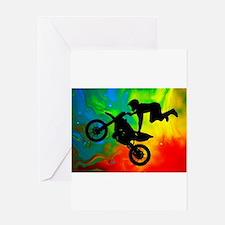 Cute Dirt bike Greeting Card