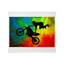 Cute Dirt bike Throw Blanket
