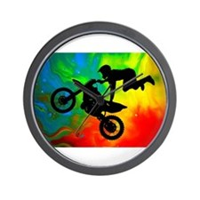 Cute Motorcyclist Wall Clock