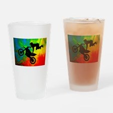 Cute Dirt bike Drinking Glass