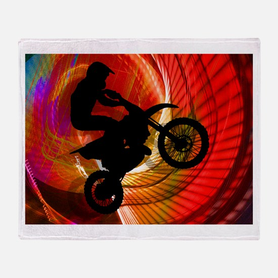 Funny Bike Throw Blanket