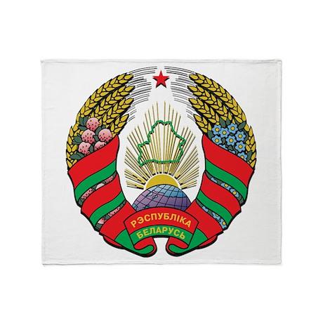 Emblem of Belarus Throw Blanket