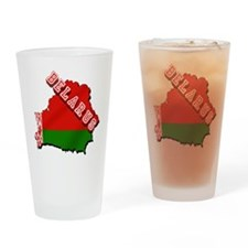 Belarus Map Flag Drinking Glass