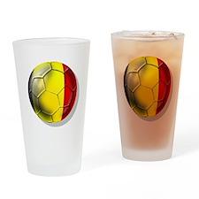 Belgian Football Drinking Glass