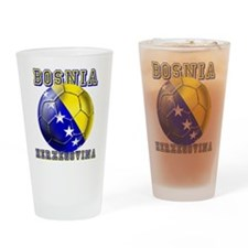 Bosnian Football Drinking Glass