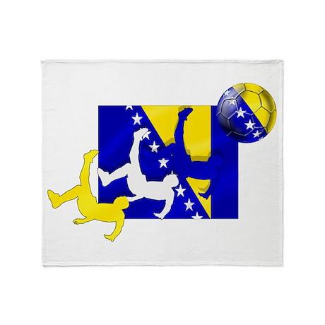 Bosnia Soccer Throw Blanket