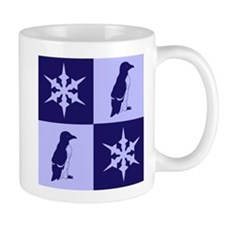 Penguin Quilt (blue) Mug
