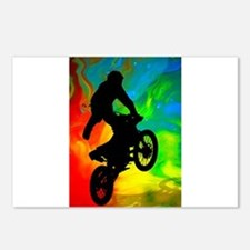 Funny Dirt bike Postcards (Package of 8)