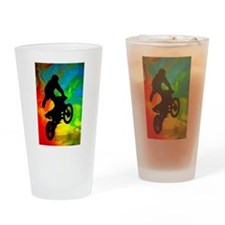 Cute Sport motorcycle Drinking Glass