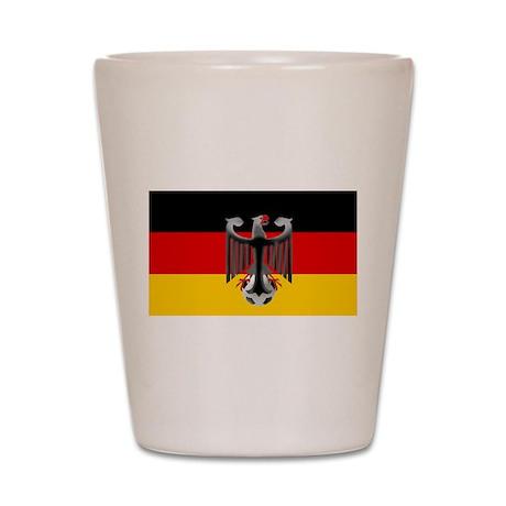 German Soccer Flag Shot Glass