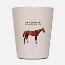 Magyr Hungarian horse Shot Glass