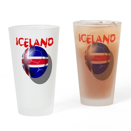 Icelandic Soccer Drinking Glass