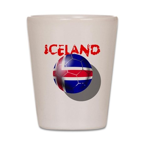 Icelandic Soccer Shot Glass