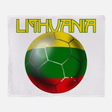 Lithuanian Football Throw Blanket