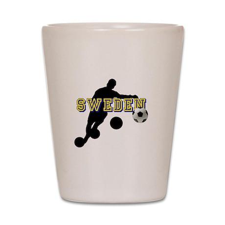 Sweden Football Shot Glass