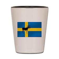 Swedens Elk / Moose Flag Shot Glass