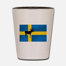 Swedens Elk / Moose Flag Shot Glass
