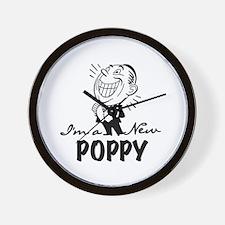 Smiling New Poppy Wall Clock