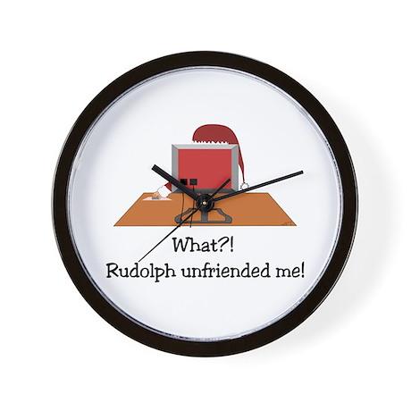 Rudolph Unfriended Me! Wall Clock