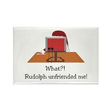 Rudolph Unfriended Me! Rectangle Magnet (10 pack)