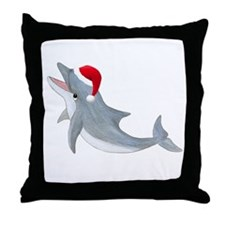 Santa - Dolphin Throw Pillow