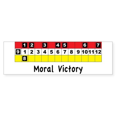 Moral Victory Sticker (Bumper)