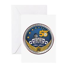 USS Enterprise CVN-65 50th An Greeting Card