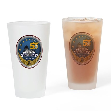 USS Enterprise CVN-65 50th An Drinking Glass