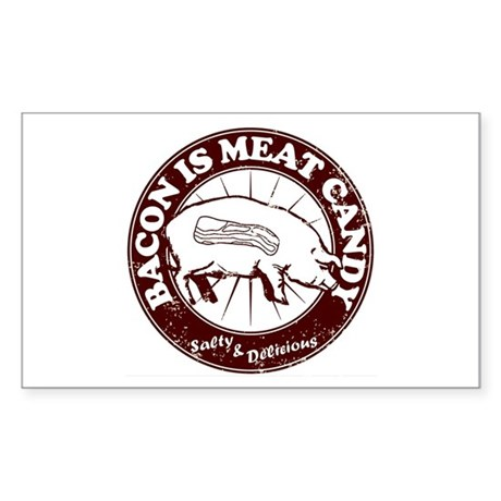 Bacon Is Meat Candy Sticker (Rectangle 10 pk)