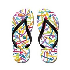 Colorful Bass Clarinet Flip Flops