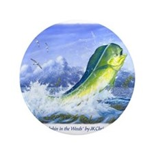 """Dolphin in the Weeds 3.5"""" Button"""