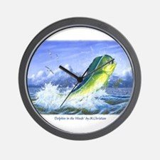 Dolphin in the Weeds Wall Clock