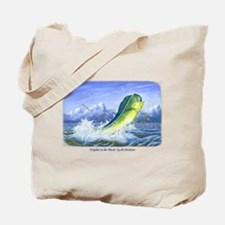 Dolphin in the Weeds Tote Bag