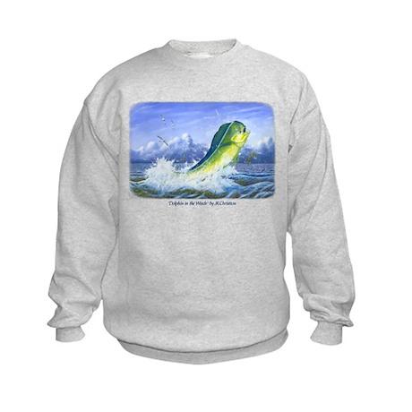 Dolphin in the Weeds Kids Sweatshirt