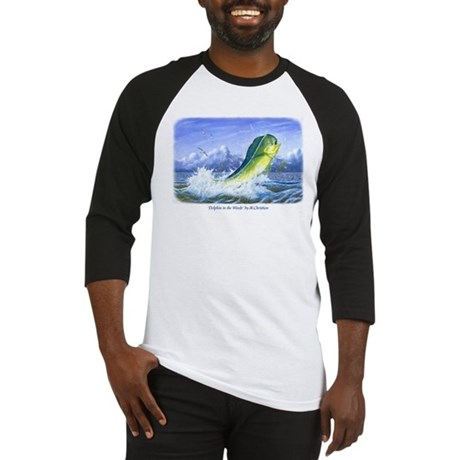 Dolphin in the Weeds Baseball Jersey