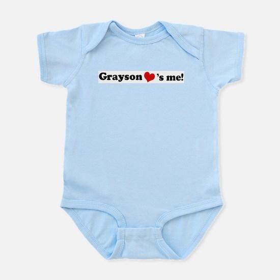 Grayson Loves Me Infant Creeper