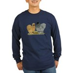 Sizzle Chickens Long Sleeve Dark T-Shirt