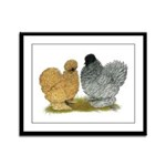 Sizzle Chickens Framed Panel Print